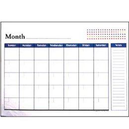 "48 of Bazic 17"" X 22"" Undated 12-Months Desk Pad Calendar"