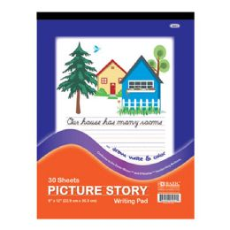 """96 of Bazic 30 Ct. 9"""" X 12"""" Picture Story Pad"""