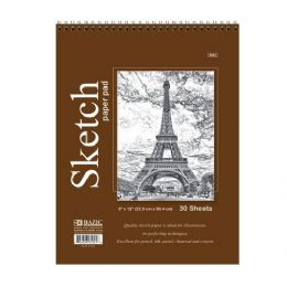 """48 of Bazic 30 Ct. 9"""" X 12"""" Top Bound Spiral Sketch Pad"""