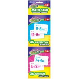 72 of Bazic 36 Ct. Addition & Subtraction Mini Flash Card (2/pack)