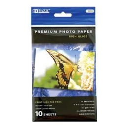 """144 of Bazic 4"""" X 6"""" Glossy Photo Paper (10/pack)"""