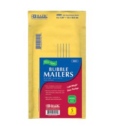 """72 of Bazic 4"""" X 7.25"""" (#000) Self Sealing Bubble Mailers (5/pack)"""