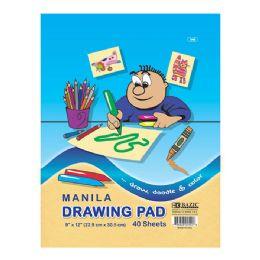 "96 of Bazic 40 Ct. 9"" X 12"" Manila Drawing Pad"