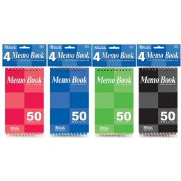 "72 of Bazic 50 Ct. 3"" X 5"" Top Bound Spiral Memo Books (4/pack)"