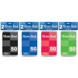 "72 of Bazic 50 Ct. 4"" X 6"" Top Bound Spiral Memo Books (2/pack)"