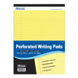 "48 of Bazic 50 Ct. 8.5"" X 11.75"" Canary Perforated Writing Pad"