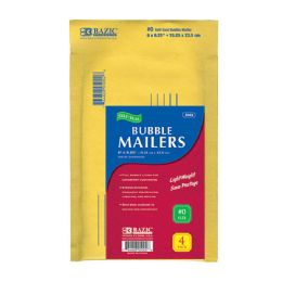 """72 of Bazic 6"""" X 9.25"""" (#0) Self Sealing Bubble Mailers (4/pack)"""