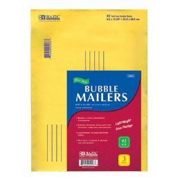 """48 of Bazic 8.5"""" X 11.25"""" (#2) Self Sealing Bubble Mailers (3/pack)"""