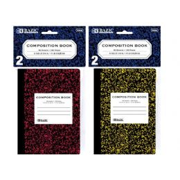 "72 of Bazic 80 Ct. 4.5"" X 3.25"" Mini Marble Composition Book (2/pack)"