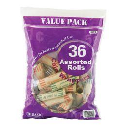 50 of Bazic Assorted Size Coin Wrappers (36/pack)