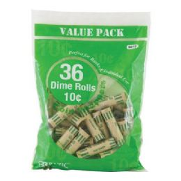50 of Bazic Dime Coin Wrappers (36/pack)