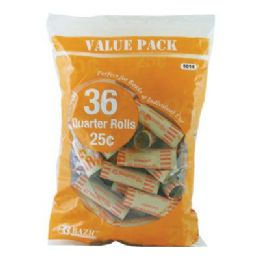 50 of Bazic Quarter Coin Wrappers (36/pack)