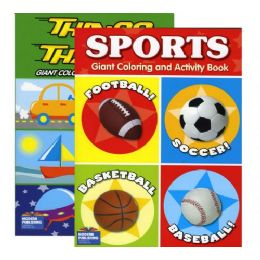 48 of Boy Theme Giant Coloring & Activity Book