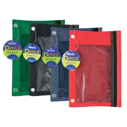 144 of Bazic 3-Ring Pencil Pouch W/ Mesh Window