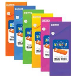 144 of Bazic Bright Color Slider Pencil Case W/ Pdq Display