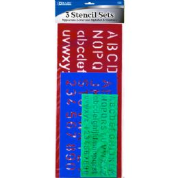 144 of Bazic 10, 17, 20mm Size Lettering Stensil Sets (3/pack)