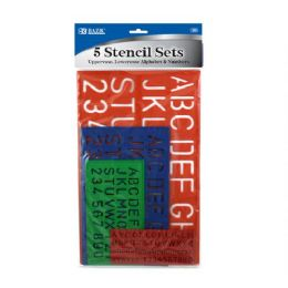 144 of Bazic 10, 17, 27, 40mm Size Lettering Stencil Sets (4/pk)