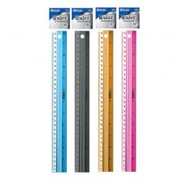 "144 of Bazic 12"" (30cm) Aluminium Ruler"
