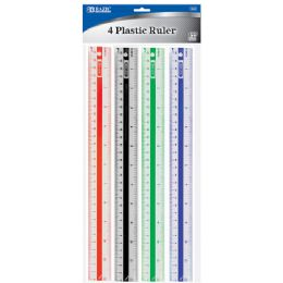 "288 of Bazic 12"" (30cm) Plastic Ruler (4/pack)"