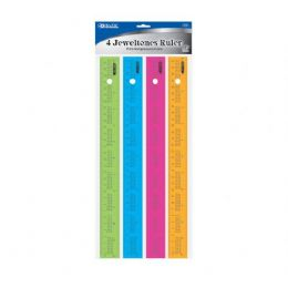 "288 of Bazic 12"" (30cm) Ruler W/ Multiplication Prints (4/pack)"