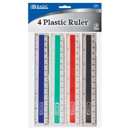 "288 of Bazic 6"" (15cm) Plastic Ruler (4/pack)"