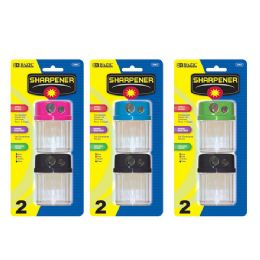 144 of Bazic Dual Blades Sharpener W/ Round Receptacle (2/pack)