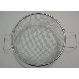 "100 of 8.5"" Round Metal Strainer With Two Handles [deep Fryer Basket]"