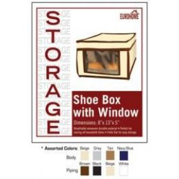 """36 of 8"""" X 13"""" X 5"""" Shoe Box With Window -4 Assorted Colors"""