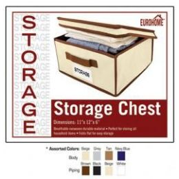 """24 of 11"""" X 12"""" X 6"""" Storage Chest -4 Assorted Colors"""