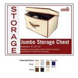 """24 of 16"""" X 16"""" X 10"""" Large Storage Chest -4 Assorted Colors"""