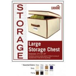 """16 of 12"""" X 16"""" X 10"""" Jumbo Storage Chest -4 Assorted Colors"""