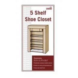 5 of 5 Shelf Shoe Closet Blue And White