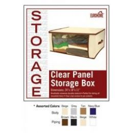 36 of Clear Panel Storage Box -4 Assorted Colors