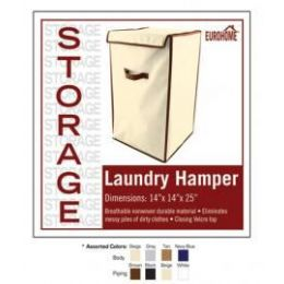 12 of Laundry Hamper 4 Assorted Colors