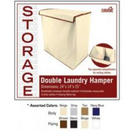 8 of Double Laundry Hamper 4 Assorted Colors