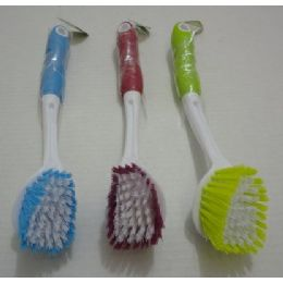 "12 of 11"" LonG-Handled Dish Brush"