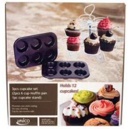 6 of 3 Piece Cupcake Set With Stand