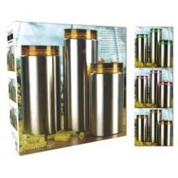 4 of 3 Pc Glass Canister Set