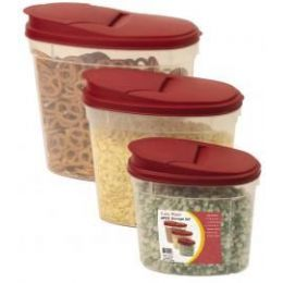 6 of 6 Pc. Click & Lock Plastic Storage Set W/lids