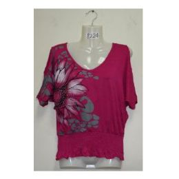 72 of Printed Flower Blouse