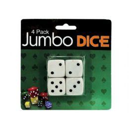 72 of Jumbo Dice, Pack Of 4