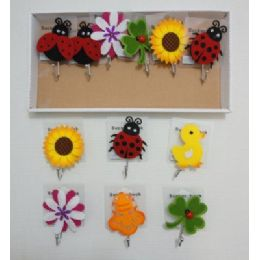 72 of Suction Cup Hooks With Felt Accents
