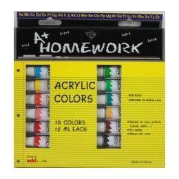 24 of Acrylic PaintS- Asst. ColorS- 18 Pack - 12 Ml Each Tbe