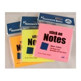 """48 of Stick On Notes 3""""x 3"""" 100 SheeT- Neon Colors"""