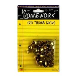48 of Thumb Tacks - 120 Pk - Gold Color - Carded