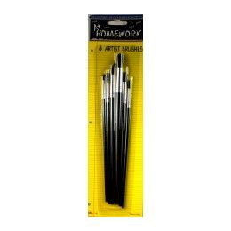 48 of Paint Brushes - 6 Ct. Asst.sizes - Carded