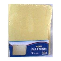 48 of File Folders - 1/3 Cut - 9 Ct - ManilA-Letter Size