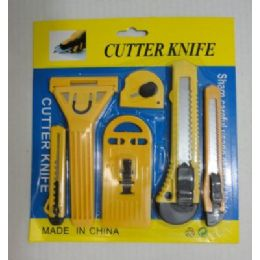 144 of 6pc Utility Knife Set [snap -Off Blade]
