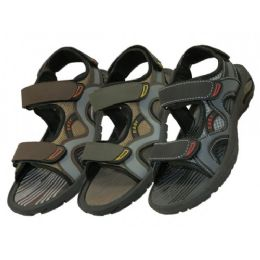 24 of Boys' Velcro Strap Sandals