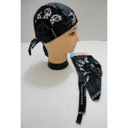 120 of Skull CaP-Black & Dark Gray With White Tribal